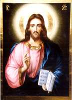 Gesus Christ Pantocrator 40X30cm Privat collection fam.Conti,Turin,Italy 2005n