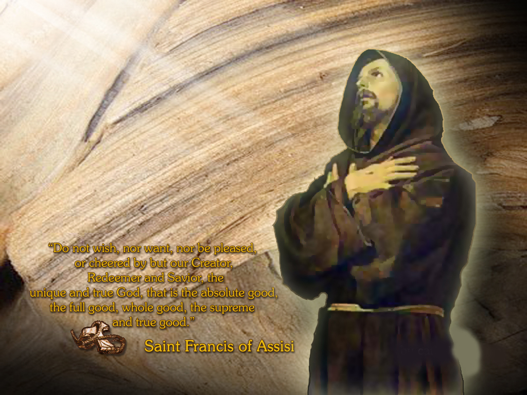 biography of saint francis of assisi and his many good deeds Background on st francis: francis was born about 1180 to a merchant family in assisi, italy, and initially seemed destined for an ordinary lifehowever, in his early twenties he experienced a religious conversion which took him in a new direction he began to give away his property and spend his time repairing churches in disrepair.